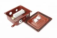 Клеммная Коробка с зажимами наборными КЗНА-08 У3 IP43 ЗЭТА