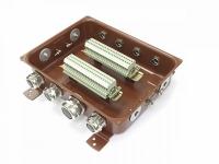 Коробка с зажимами наборными КЗНС-48 УХЛ 1,5 IP65 латунный ввод  ЗЭТА