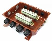 Коробка с зажимами наборными КЗНС-32 У2 IP54  пластиковый ввод ЗЭТА