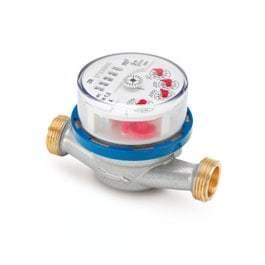 """Водосчетчик Minol Zenner ETK-N-AM, 40°C, DN 15, Qn 1,5, L 80 mm, G3/4""""B, без присоед. с плавающей крыльчаткой"""