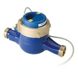 Водосчетчик Minol Zenner MTK-I, 40°C, DN 20, Qn 2,5, L 190 mm, с имп. (10L/Imp.), с присоед.